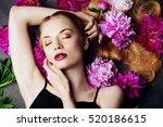 beauty portrait. beautiful... | Shutterstock . vector #520186615