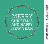 merry christmas greeting... | Shutterstock .eps vector #520187005