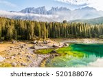 Landscape Of Lake Carezza  And...