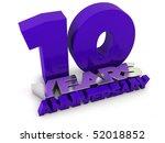 10 years anniversary | Shutterstock . vector #52018852