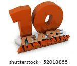 10 years anniversary | Shutterstock . vector #52018855