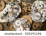 vintage clocks mechanism close... | Shutterstock . vector #520191196