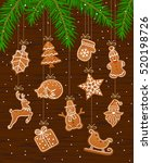 merry christmas and happy new... | Shutterstock .eps vector #520198726