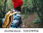 young woman traveler with...   Shutterstock . vector #520198906