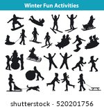 children's winter fun... | Shutterstock .eps vector #520201756