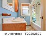 warm colorful bathroom interior ... | Shutterstock . vector #520202872