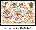 great britain   circa 1990s  a... | Shutterstock . vector #520204426