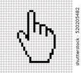 pixel hand    black vector icon | Shutterstock .eps vector #520205482