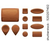 cartoon wooden game assets  the ...