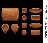 cartoon wooden game assets  the ...