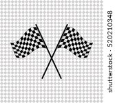 racing flag   black  vector icon | Shutterstock .eps vector #520210348