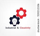 creative light bulb and gear...   Shutterstock .eps vector #520212106