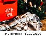 Christmas  Red Mailbox Santa ...