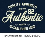 new york apparels typography  t ... | Shutterstock .eps vector #520214692