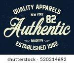 new york apparels typography  t ... | Shutterstock .eps vector #520214692