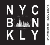brooklyn nyc typography  t... | Shutterstock .eps vector #520218646
