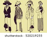 hand drawn collection of female ... | Shutterstock .eps vector #520219255