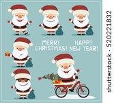 christmas santa claus. set... | Shutterstock .eps vector #520221832