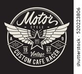 motorcycle typography  t shirt... | Shutterstock .eps vector #520223806
