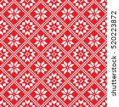 traditional scandinavian... | Shutterstock .eps vector #520223872