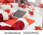 santa claus waiting for... | Shutterstock . vector #520229452