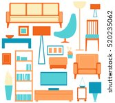living room furniture.  vector... | Shutterstock .eps vector #520235062