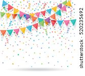 colorful explode confetti with... | Shutterstock .eps vector #520235692
