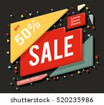 big sale advertising banner and ... | Shutterstock .eps vector #520235986