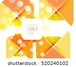 glittering abstract geometric... | Shutterstock .eps vector #520240102