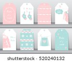 set of cute paper winter tags... | Shutterstock .eps vector #520240132