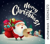 merry christmas  santa claus in ... | Shutterstock .eps vector #520241272