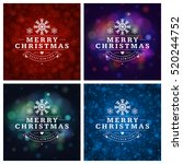 christmas greeting cards... | Shutterstock .eps vector #520244752
