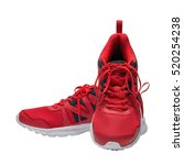 Red Sport Running Shoes...