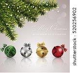 jingle bells.vector background | Shutterstock .eps vector #520256902