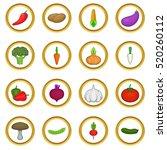 vegetables vector set in... | Shutterstock .eps vector #520260112