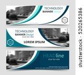 set of blue horizontal business ... | Shutterstock .eps vector #520265386