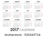 2017 calendar planner design.... | Shutterstock .eps vector #520265716