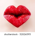 Heart Shape Sexy Lips For Sain...
