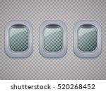 set of aircraft windows. plane...   Shutterstock .eps vector #520268452