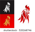 Abstract Rooster Head Symbol ...