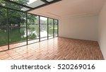 empty room 3d rendering | Shutterstock . vector #520269016