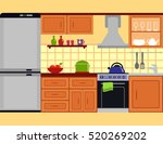 kitchen room interior with...