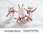 happy funny marshmallow... | Shutterstock . vector #520270792