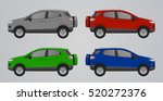 set of different color suv car  ... | Shutterstock .eps vector #520272376