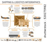 shipping and logistics concept... | Shutterstock .eps vector #520275982