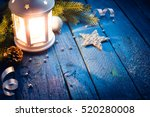 christmas lantern with... | Shutterstock . vector #520280008