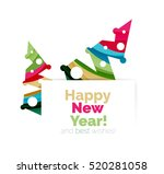 christmas and new year... | Shutterstock . vector #520281058