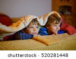 happy little brothers  adorable ... | Shutterstock . vector #520281448