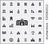 architecture icons universal... | Shutterstock .eps vector #520282012