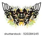 grunge ornate butterfly.... | Shutterstock .eps vector #520284145